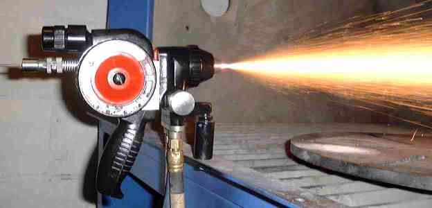 Combustion Wire Spray Process Metal Spraying Or Flame