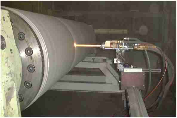 HVOF Spraying Callender Roll for Paper Manufacture