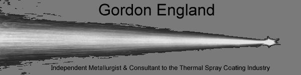 Gordon England Thermal Spray Coating Consultant